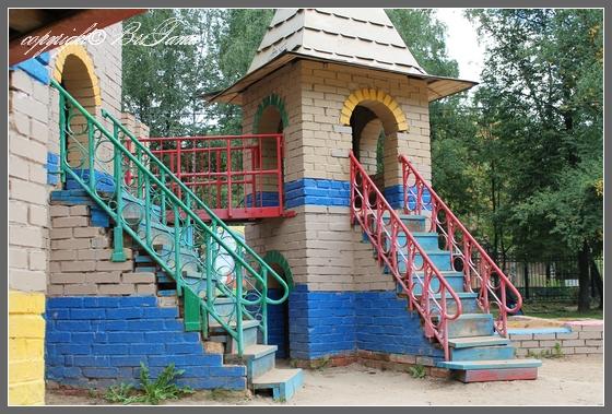 Высота лестниц. Детская площадка